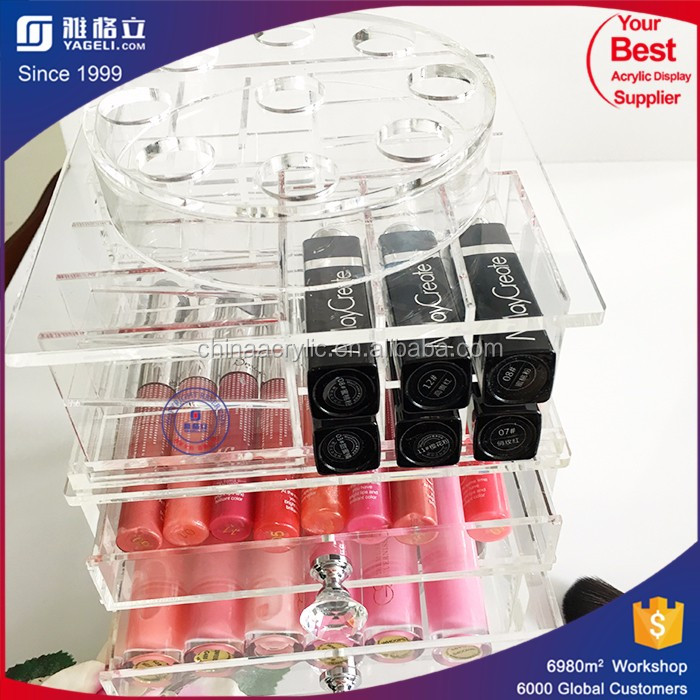 Manufacturing acrylic makeup organizers with drawers