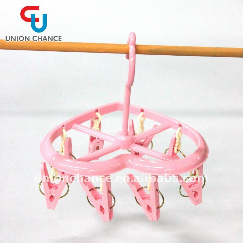 Heart-shape Plastic Hanger with 8 Pegs