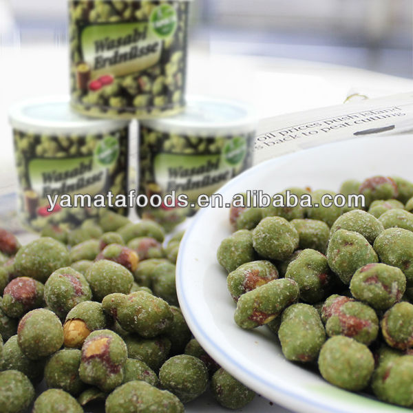 Wasabi flavor coated peanuts tin packed