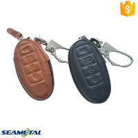 Car Genuine Leather Key Cover Case 4 button For Nissan Teana Altima Tiida X-trail Rogue Qashqai Bluebird Sentra Sylphy NV200
