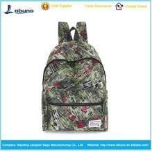 Wholesale school bag high quality travel leisure outdoor canvas backpack