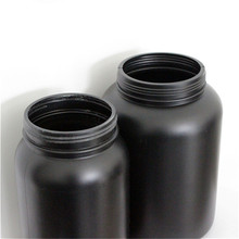 500ml health care products jars, hdpe bottle for nutrients tablets, hdpe black plastic medical bottle