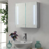 America style medicine cabinet with led lighting, ALUMINUM bathroom mirror cabinet with light