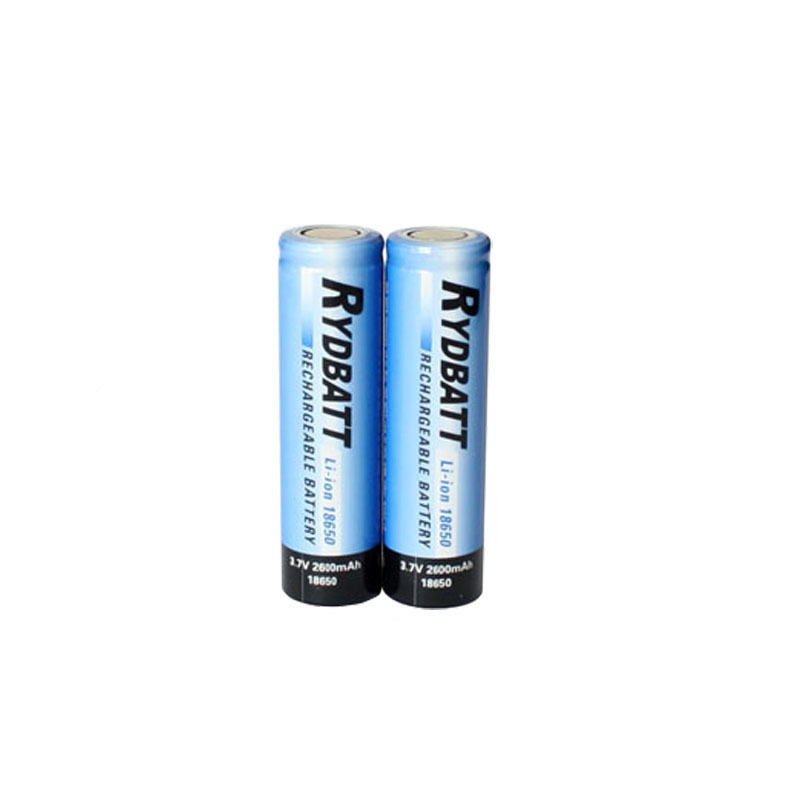 High capacity 2600mAh 3.7v icr 18650 li-ion rechargeable battery