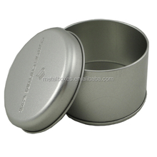 Decorative Small Metal Round Candle Tin Box Tea Tin Can