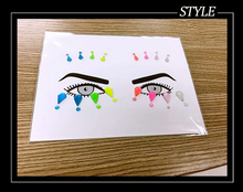 Hot sale crystal eye shadow makeup decoration stickers