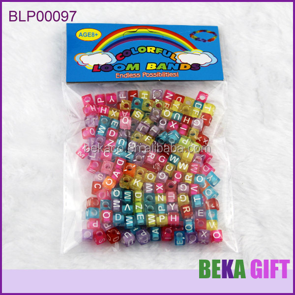 Jewelry making beads crystal acrylic dice beads wholesale cube alphabet letter beads