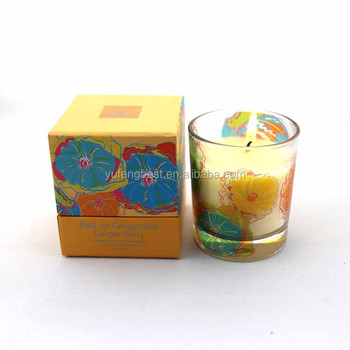 Aromatherapy glass candle holders gift set lemon flavor