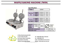 Commercial Waffle Baking Machine(Twin Burner)