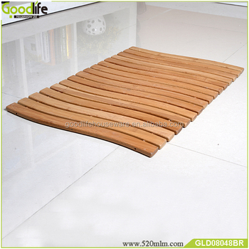 Bamboo shower mat bath mat set hot selling in Amazon