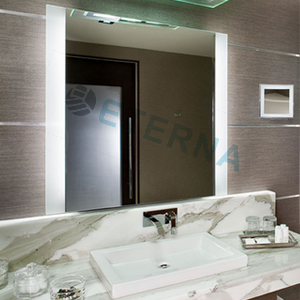 customized design illuminated sliding bathroom mirror