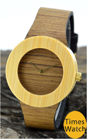 2016 Wholesale natural eco 100% frienddly wood watch , bamboo wooden wrist watch