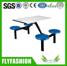 2016 Hot Sale Modern canteen tables and chairs/Wood restaurant furniture