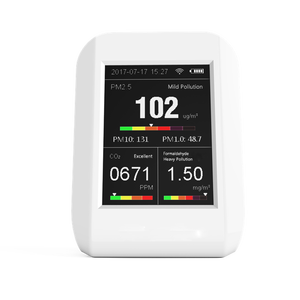 WIFI connect with smartphone air pollution CO2 meter dust particle counter