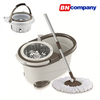 Detachable Basket Bucket Mops For Cleaning 360 Spin Mop