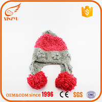 wholesale custom slouch winter knitted long beanie hat
