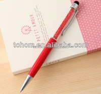 Promotional wholesale gift screen touch stylus pen with diamond
