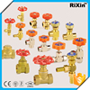 RX-1069 brass air flow control valve regulating angle needle valve pressure reduce stem gate valve