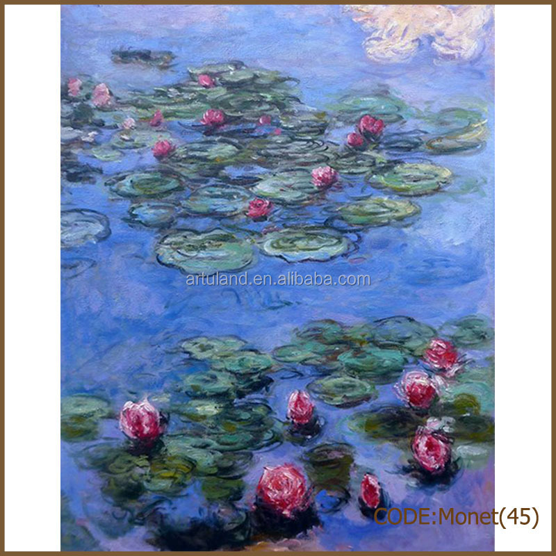 Gallery of Monet waterlily oil painting reproduction