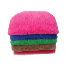Factory wholesales microfiber quick drying home salon used cap coral fleece hair towels