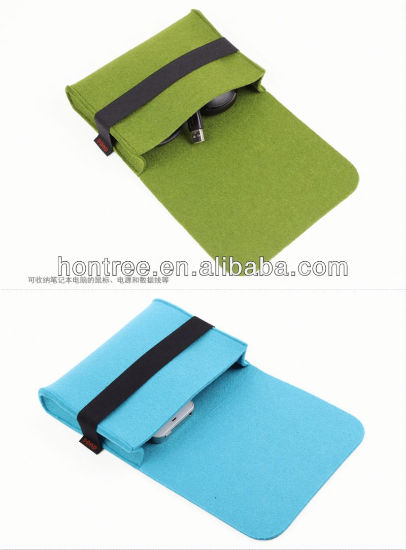 2014 felt travel transparent plastic computer case with OEM
