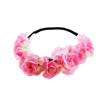 2017 Fashion high quality handmade wedding bridal headband flower crown hair accessories