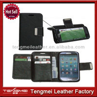 Black Leather Flip Wallet Cover Case For Samsung Galaxy S4 Active