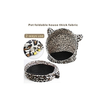 High Quality Popular 2 Ways Use Fashion Leopard Pet Foldable House