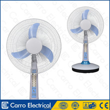 Solar equipment battery operated desktop fan with ac adapter
