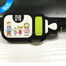 Any shape design custom 2D rubber logo family Soft PVC keychains