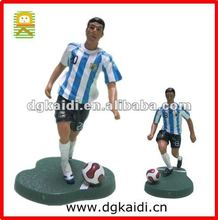 Custom made plastic soccer player action figure toys