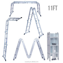EN131 Aluminum Folding Multi Purpose Step Ladder with Stabilizing Cross Piece
