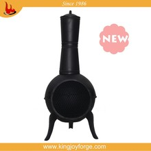 Outdoor cast iron chiminea /outdoor chiminey with steel flue