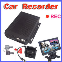 Car black box video camera recorder system with dual lens