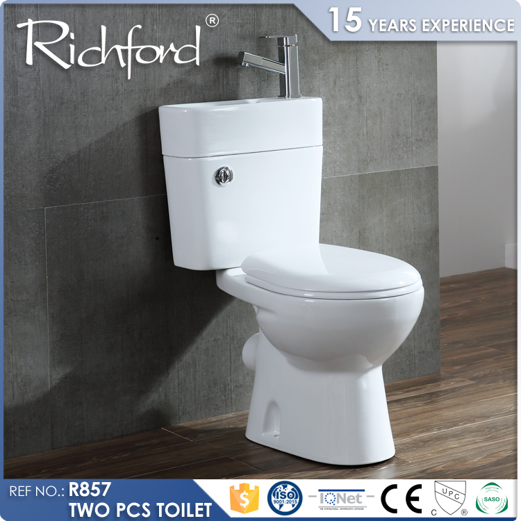 china wholesale sanitary ware two piece P-Trap toilets