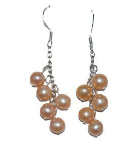 cheap jewelry pink pearl earring
