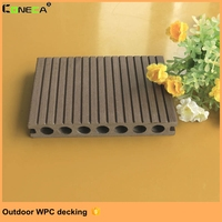 Wood grain waterproof WPC crack-resistant decking good price extruded plastic composite decking