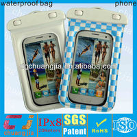 low price sports waterproof cover for samsung galaxy s4 bag with IPX8 certificate