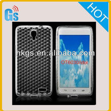 Tpu Rubber Soft Diamond Skin For Alcatel One Touch Idol OT6030 /OT-6030D /OT 6030D for TCL S820