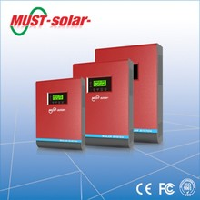 < Must solar > hot sale ! hybrid solar inverter off grid 4000VA built in 50A PWM MPPT charge controller with parallel function