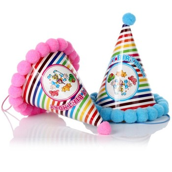 2016 Happy Birthday Paper Cone Hat for kids