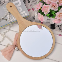 New design decorative wooden antique wall mirror
