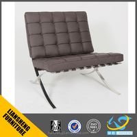 2016 Leisure Reclining chair lounge with stainless wheel pu leather sofa chair
