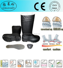 Fabric Lining PVC Rain Gumboots With Safety Toe Cap