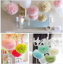 Party decoration decorations wedding tissue paper flowers/ pom pom crafts garlands for wedding decorations