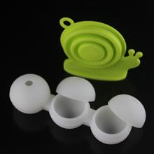 Food Safe Silicone Spherical Round Ball Ice Cube Tray Maker Mold 3 cavity