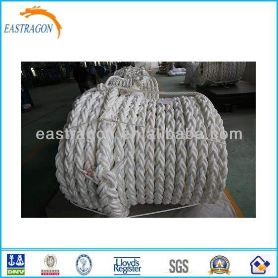 PP Braided Hawser/Mooring Rope for Ship