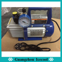 VP135(VP2) 1/3HP vacuum pump with solenoid valve and vacuum meter for Environment-protection Refrigerant R410/R407