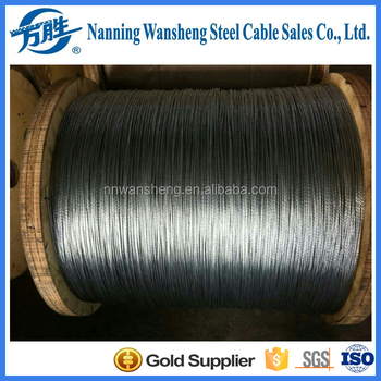Optic Cable Using Galvanized Steel Stranded Wire, Messenger Wire
