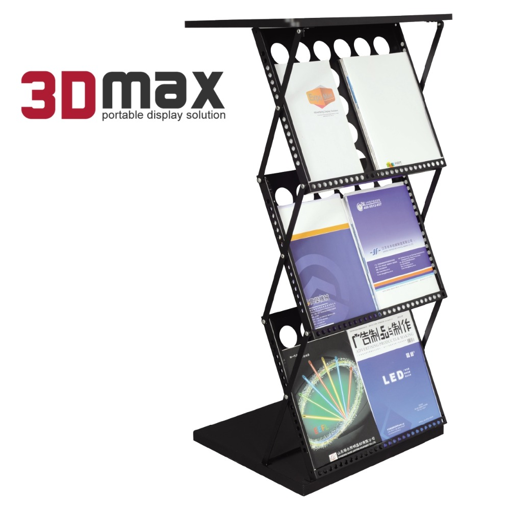Exhibition Product Metal Portable book stand holder Display